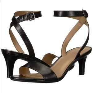 NATURALIZER Tinda Ankle Strap Heel Sandals Black
